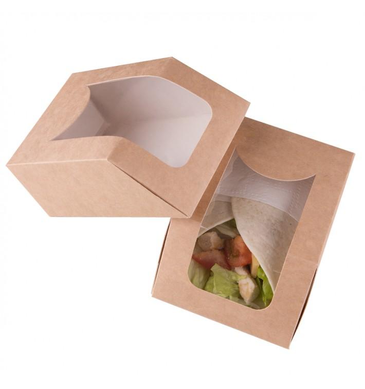 Boîte en Carton Kraft avec Fenêtre 90x51x120mm (25 Utés)