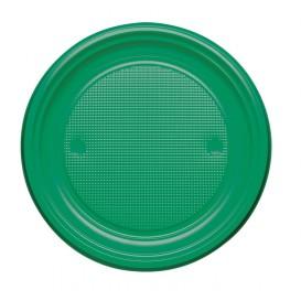 Assiette Plastique PS Plate Vert Ø220mm (780 Unités)