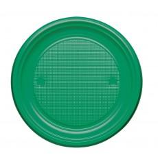 Assiette Plastique PS Plate Vert Ø220mm (30 Unités)