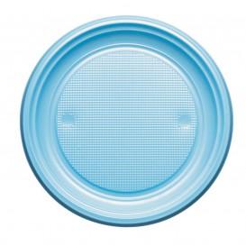Assiette Plastique PS Plate Bleu Clair Ø220mm (780 Unités)
