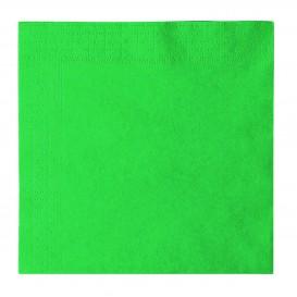 Serviette Papier 2 épaisseurs Vert 33x33cm (1200 Unités)
