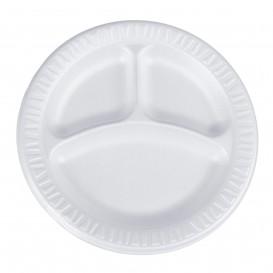 """Assiette Thermique FOAM """"Quiet Classic"""" 3 C. Stratifié Blanc Ø230mm (500 Unités)"""