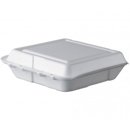 Boîte en FOAM MenuBOX Petit Blanc 200x190mm (100 Unités)