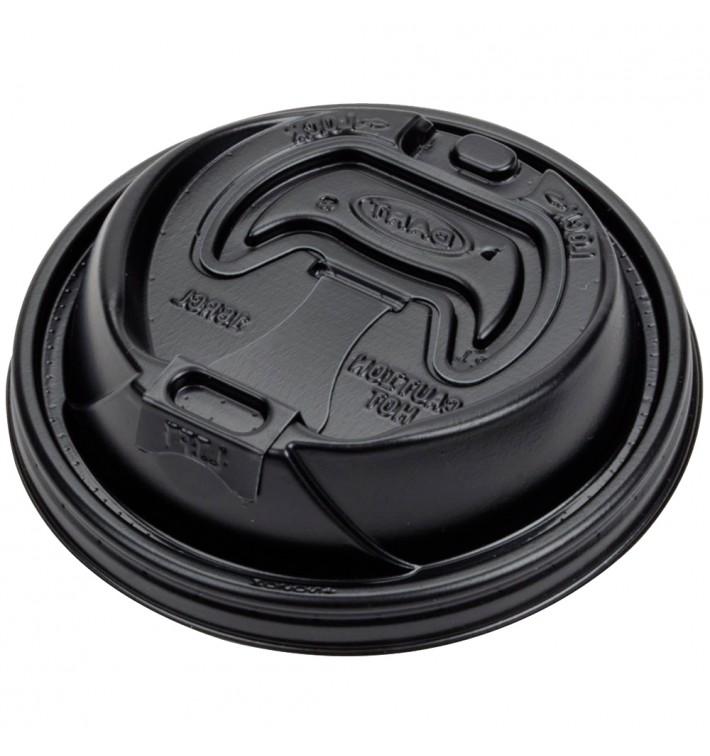 """Couvercle """"Lift n' Lock"""" PS Noir Ø9,4cm (100 Utés)"""