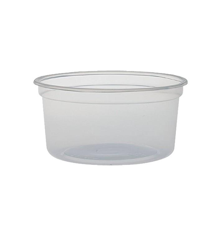 """Récipient en Plastique PP """"Deli"""" 12Oz/355ml Transp. Ø120mm (500 Unités)"""