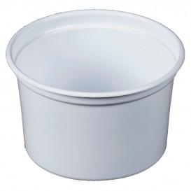 """Récipient en Plastique PP """"Deli"""" 16Oz/473ml Blanc Ø120mm (25 Unités)"""