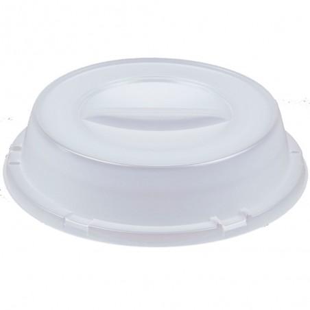 Couvercle Haut Plastique PS Translucide Ø240mm (500 Unités)