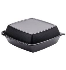 Boîte en FOAM LunchBox 3C. Noir 210x200mm (100 Utes)