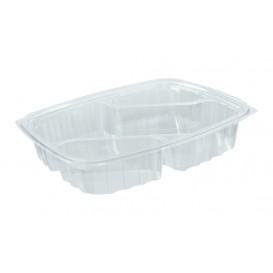 """Récipient en Plastique OPS """"ClearPac"""" 3 C. Diagonale Transp. 887ml (63 Utés)"""