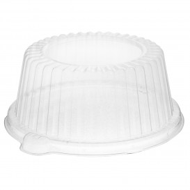 Couvercle Dôme Plastique PS Cristal Ø15x6,4cm (125 Unités)
