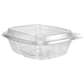 Récipient Inviolable Plastique PET Couvercle Haut 240ml (100 Utés)