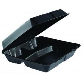 Boîte en FOAM MenuBOX Grand 3 C. Noir 240x235mm (100 Unités)