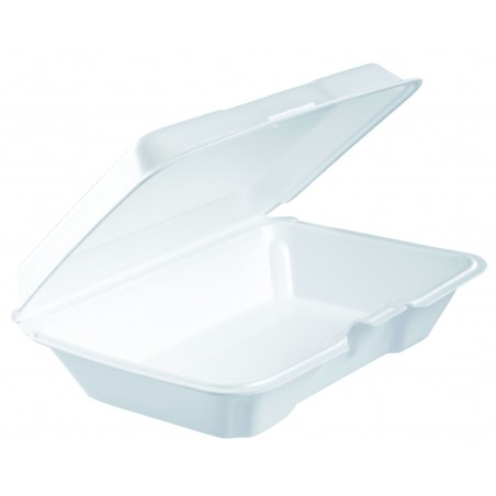 Boîte FOAM LunchBox Couvercle Détachable Blanc 230x150X65mm (100 Utes)