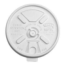 "Couvercle ""Lift n' Lock"" PS Blanc Ø9,4cm (100 Utés)"