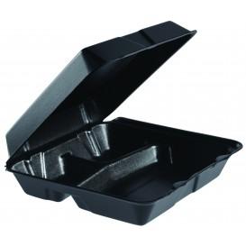 Boîte en FOAM MenuBox 3C. Détachable Noir 240x235mm (200 Utes)
