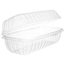 """Boîte Couvercle Charnière OPS """"Clear Seal"""" Pour Sandwich 290ml (100 Utés)"""