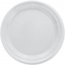 """Assiette en Plastique PS """"Famous Impact"""" Blanc Ø180mm (125 Unités)"""