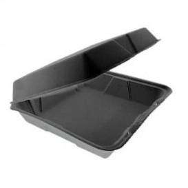 Boîte en FOAM MenuBox Détachable Noir 240x235mm (100 Utes)