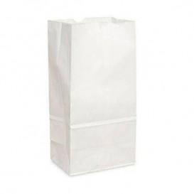 Sac en papier Kraft Blanc sans anses 12+8x24cm (25 Unités)