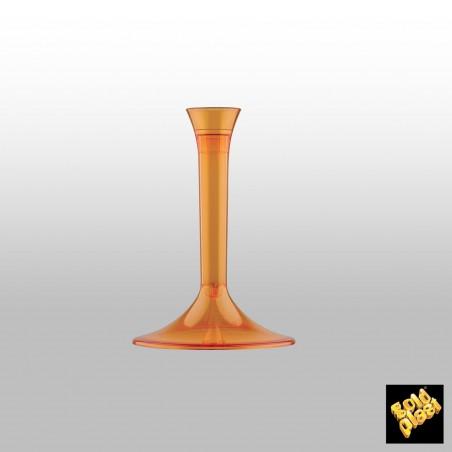 Flûte Champagne Plastique Pied Gris 200ml (20 Unités)