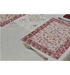 """Set de Table 30x40cm """"Cachemire"""" Bordeaux 50g (500 Utés)"""