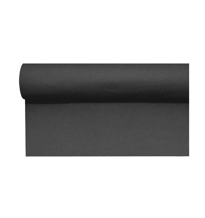 Chemin de Table Airlaid Noir Prédécoupé 0,4x48m (1 Uté)