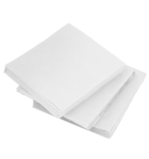 Serviette en Papier Micro Point 20x20cm Blanc (100 Utés)