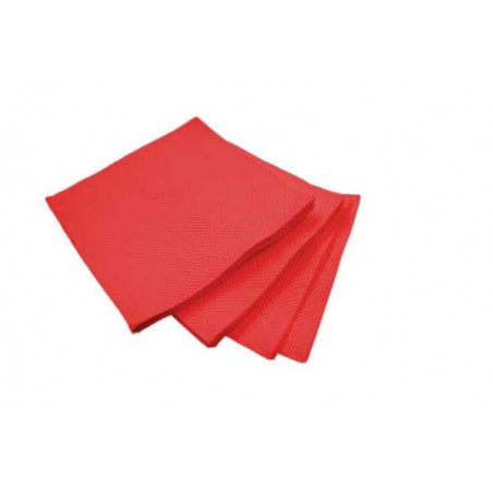 Serviette Cocktail Rouge 20x20cm (100 Unités)