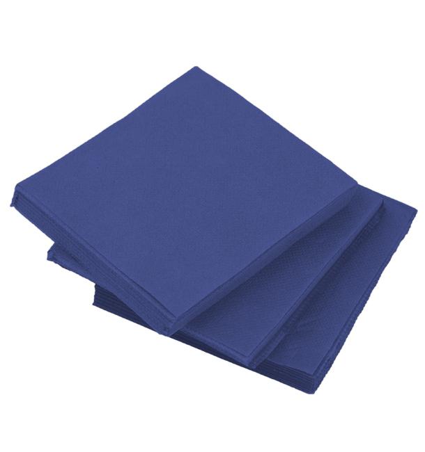 Serviette en Papier Micro Point 20x20cm Bleu (100 Utés)