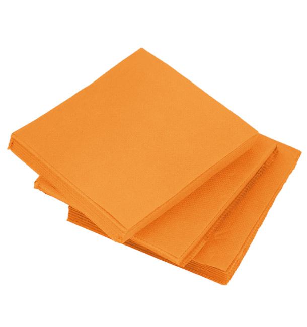 Serviette en Papier Micro Point 20x20cm Orange (100 Utés)