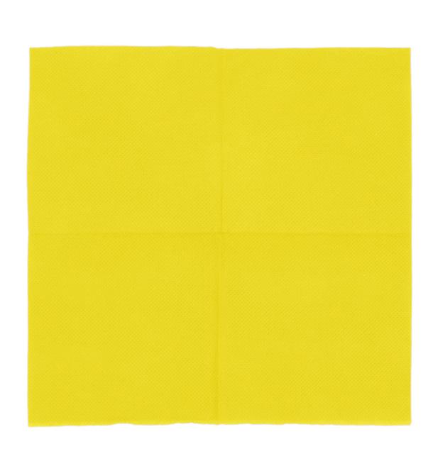 Serviette en Papier Micro Point 20x20cm Jaune (2.400 Utés)
