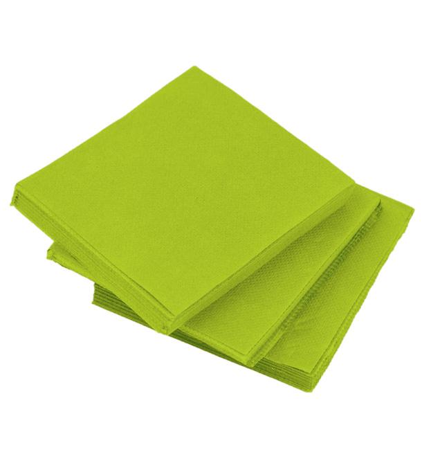 Serviette en Papier Micro Point 20x20cm Pistache (2.400 Utés)