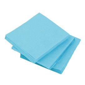 Serviette Cocktail Turquoise 20x20cm (100 Unités)