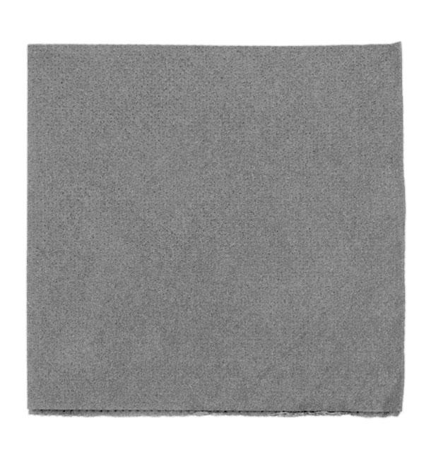 Serviette en Papier Micro Point 20x20cm Gris (100 Utés)