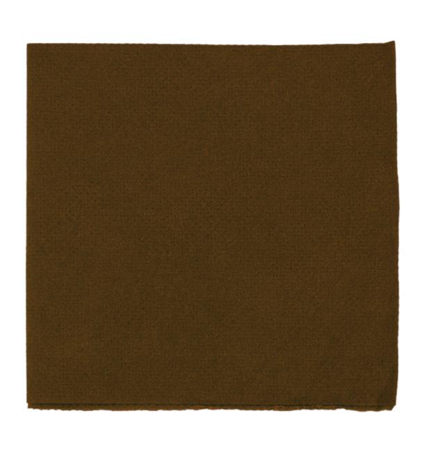 Serviette en Papier Micro Point 20x20cm Marron (2.400 Utés)