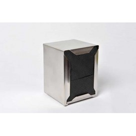 Serviette en Papier SNACK Noir 17x17cm (4800 Unités)