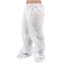 Pantalon Pressothérapie PP non Tissé Plastifié Blanc (1 Uté)