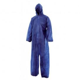 Combinaison TNT PP Capuche et Fermeture Eclair Taille L Bleu (50 Utés)