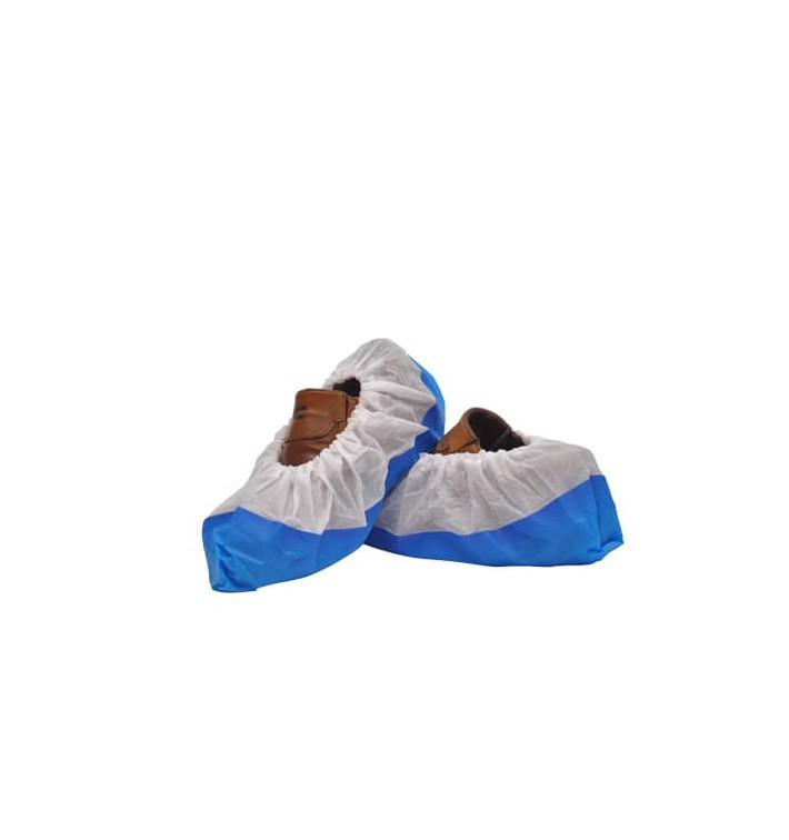 Surchaussures PP Blanc Semelle Antidérapante Bleu (50 Utés)