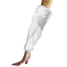Manchettes Polyethylène 18x44cm 20Micr. Blanc(2000 Utés)