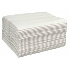 Serviette en Spunlace Manicure Blanc 20x30cm 50g/m² (100 Utés)