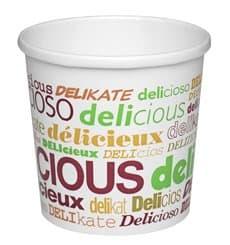 Pot en Carton Dessin Delicious 12 Oz Soupe et Glace (25 Unités)