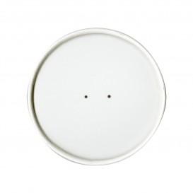 Couvercle Plat en Papier Blanc Ø9,1cm (25 Unités)
