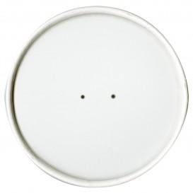 Couvercle Plat en Papier Blanc Ø11,7cm (25 Unités)