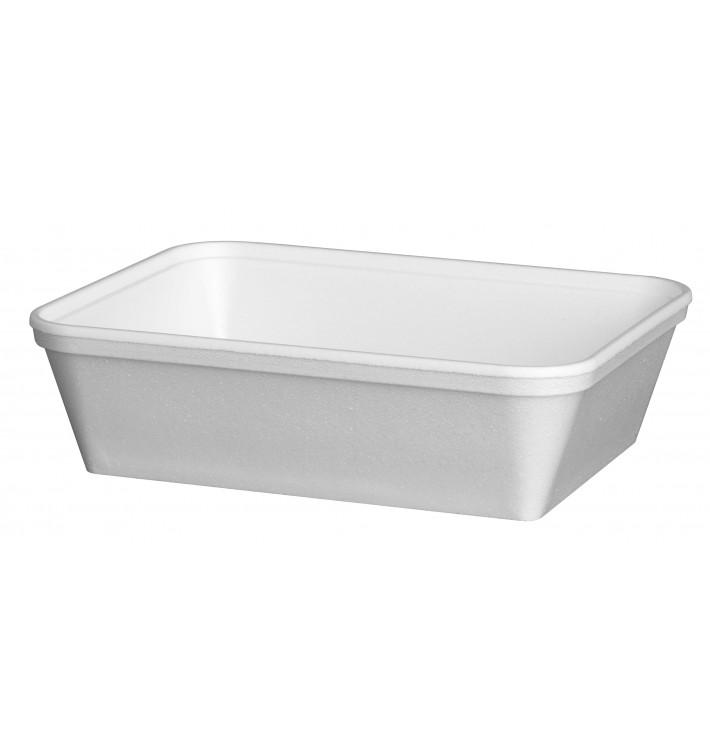 Barquette Rectangulaire en Foam Blanc 740ml (25 Unités)