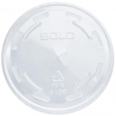 Couvercle avec passage Gobelet PET Solo Ultra Clear 9Oz Haut et 10Oz (100 Utés)