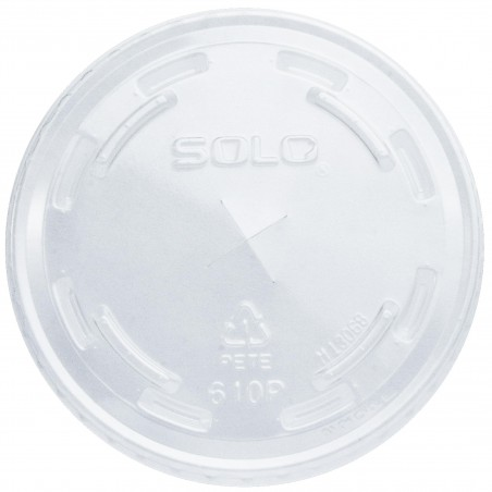 Couvercle avec passage Gobelet PET Solo Ultra Clear 9Oz Haut et 10Oz (1000 Utés)
