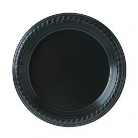 Assiette Plastique Party PS Plate Noir Ø180mm (25 Unités)