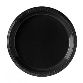 Assiette Plastique Party PS Plate Noir Ø260mm (25 Unités)