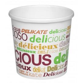 """Pot en Carton """"Delicious"""" 26Oz/770ml Ø11,7cm (25 Utés)"""